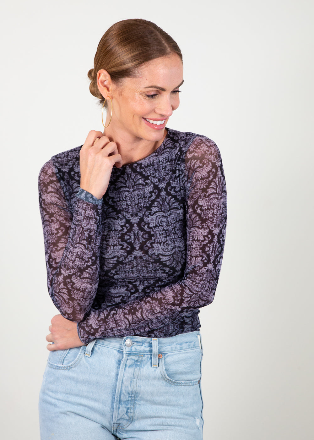 Black Baroque - Florence Double Sheer Top