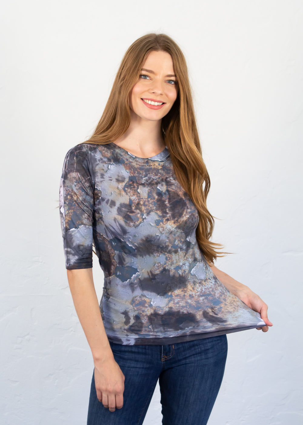 Rusty Paint Elbow Sleeve Top