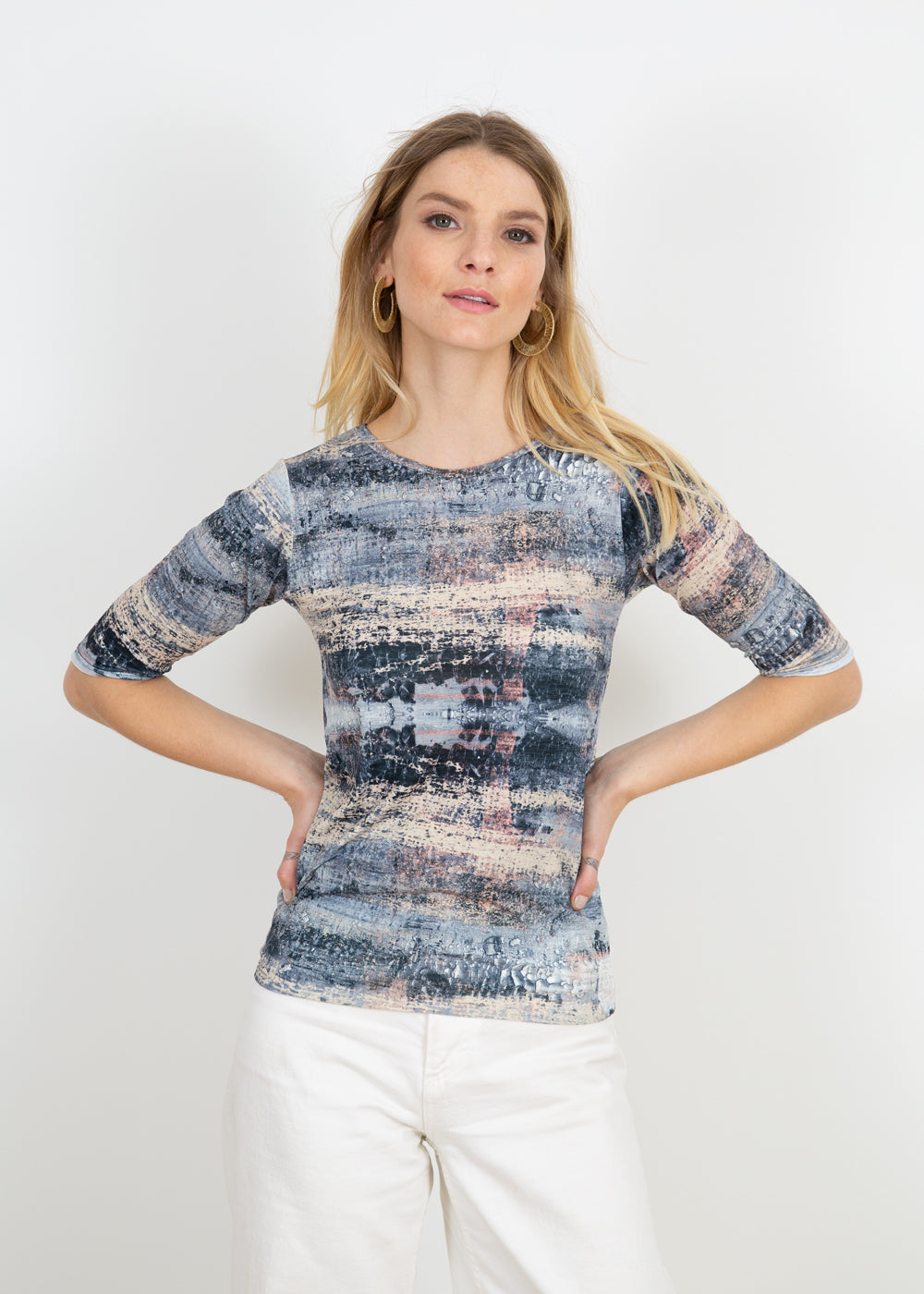 Silver Canvas - Pippa Elbow Sleeve Top