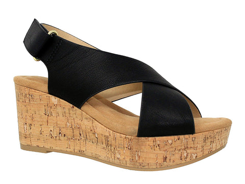 Women's Comfort Open Toe Ankle Strap Platform Wedge