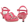 Kids Dress Sandals Strappy Rhinestones Cross Embellishment Pink