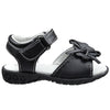 Toddler Flat Sandals Tassled Side Flower Comfort Dress Shoes Black