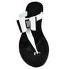Womens Flat Sandals Layered Front Bow Casual Comfort  Slip On black