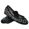 Kids Ballet Flats Lace Rhinestone Studs Girls Slip On Dress Shoes black