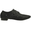 Womens Ballet Flats Tribal Eyelet Cutout Shoe Laces black