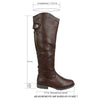 Womens Knee High Boots Over The Knee Button Accent Comfort Shoes Brown
