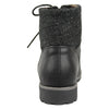 Womens Ankle Boots Knitted Ankle Lace Up Casual Riding Shoes Black