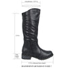 Womens Knee High Boots Casual Riding Western Zip Up Comfort Shoes black