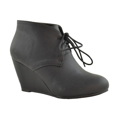 Womens Ankle Boots Leather Low Heel