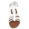 Womens Flat Sandals Braided Strappy Gladiator Casual Shoes White
