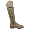 Womens Riding Over the Knee Boots Taupe