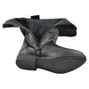 Kids Knee High Boots Interior Fleece Lined Casual Comfort Shoes Black