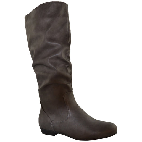 Womens Knee High Boots Gray