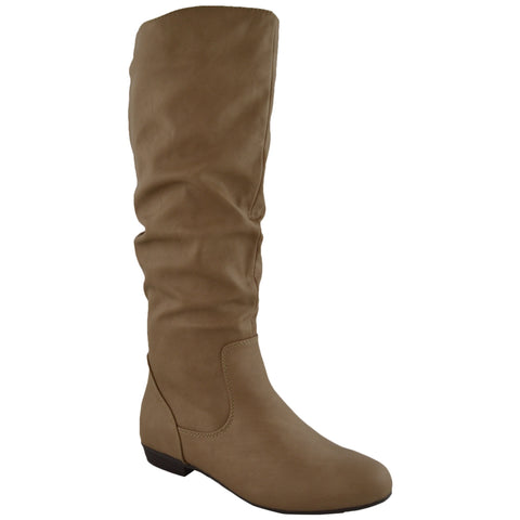 Womens Knee High Boots Taupe