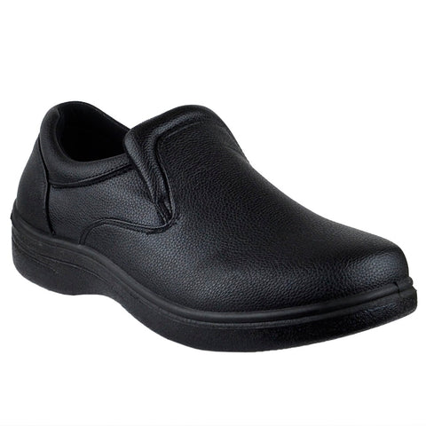 Mens Dress Shoes Slip On Padded Vamp Walking Casual Oxford Black