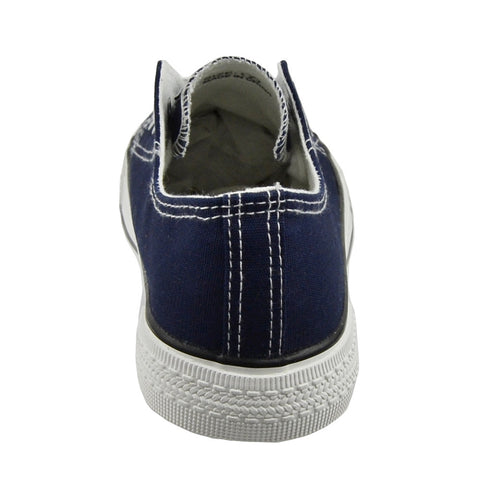 1e5694a538 Womens Closed Toe Shoes Canvas Lace Up Casual Comfort Shoes Navy