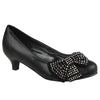 Kids Dress Shoes Embellished Side Bow Dress Pumps Black