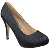 Womens Platform Shoes Glitter High Heel Sexy Stilletto Pumps Black