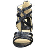 Womens Dress Sandals Snake Print Strappy Sexy High Heels black