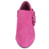 Kids Ankle Boots Suede High Heel Side Bow Dress Shoes Pink