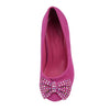Kids Dress Shoes Accented Bow Suede Dress Pumps Pink