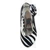 Kids Dress Shoes Zebra Print Flower Rosette Dress Pumps White