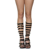 Womens Dress Sandals High Heel Buckle Accent Knee High Gladiators Black