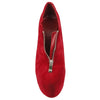 Womens Ankle Boots Closed Toe High Heel Zip Up Platform Dress Shoes Red
