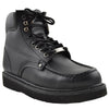 Mens Boots Oil Resistant Stitched Leather Work Hiking Padded Shoes black