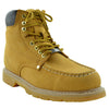 Mens Boots Oil Resistant Stitched Leather Work Hiking Padded Shoes Tan