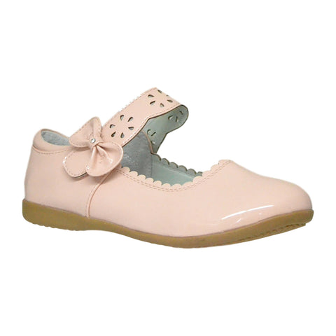 Kids Ballet Flats Scalloped Mary Jane Casual Comfort Shoes Pink