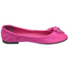 Womens Flat Shoes Studded Bow Tassel Accent Faux Suede Shoes Pink
