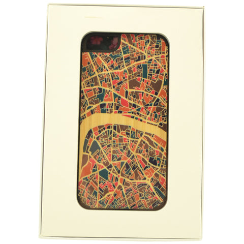 Wooden Case iPhone 6 Plus Colorful Pattern Protective Bu Mix