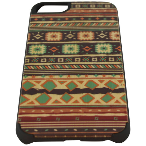 Wooden Case iPhone 6 Hard Bumper Colorful Pattern C Mix