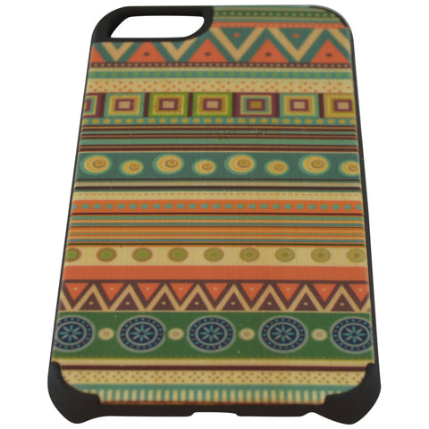Wooden Case iPhone 6 Hard Bumper Colorful Aztec Pat Mix