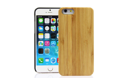 Wooden Case iPhone 6 Hard Cover Cell Phone Protector Bamboo Be Beige