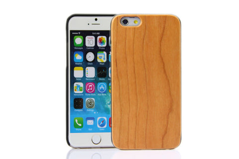 Wooden Case iPhone 6 Hard Cover Cell Phone Protector Cherry Re Red