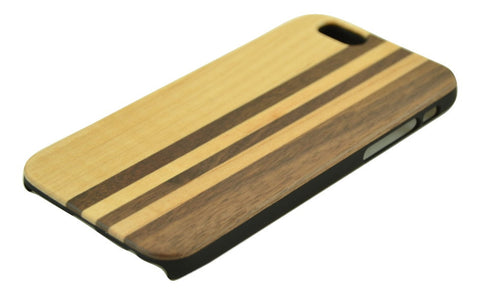 Wooden Case iPhone 6 Hard Cover Stripe Cellphone Protector Mix