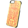 Wooden Case iPhone 6 Plus Aztec Tiki Tribal Pattern Bumper Har Red