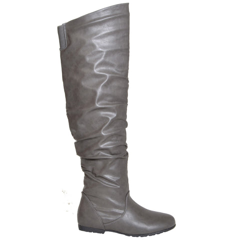 Womens Over the Knee Boots Gray