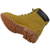Womens Ankle Boots Lace Up Ankle Padded Hiking Work Shoes Tan