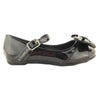 Kids Ballet Flats Patent Leather T-Strap Bow Comfort Shoes black