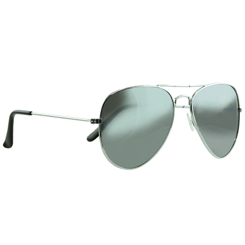 Unisex Classic Aviator Mirrored Lenses UV protection Sunglasses Silver