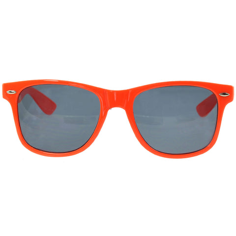 Unisex Classic Wayfarer UV Protected Smoke Gradient Lens Sunglasses Orange