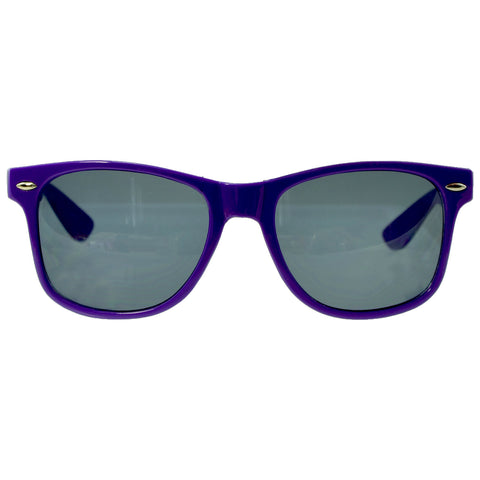 Unisex Classic Wayfarer UV Protected Smoke Gradient Lens Sunglasses Purple