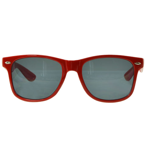 Unisex Classic Wayfarer UV Protected Smoke Gradient Lens Sunglasses Red