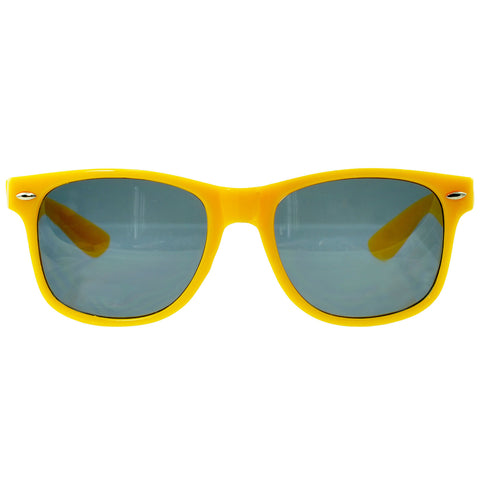 Unisex Classic Wayfarer UV Protected Smoke Gradient Lens Sunglasses YELLOW