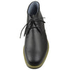 Mens Casual Shoes Tonal Stitched Lace Up Chukka Black