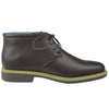 Mens Casual Shoes Tonal Stitched Lace Up Chukka Brown