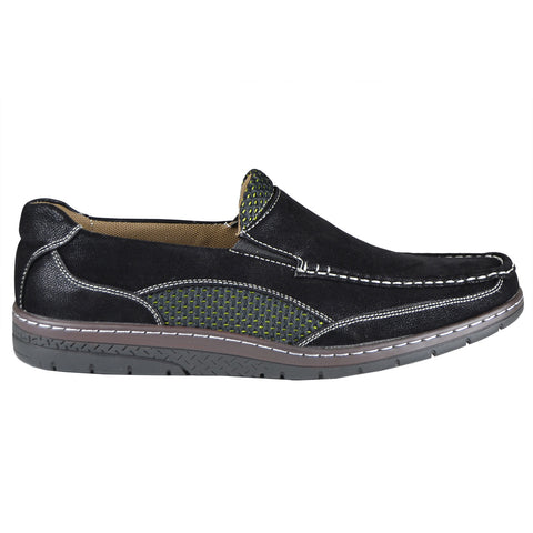 Mens Casual Shoes Two Tone Mesh Casual Loafers black